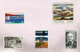 Islande N°487 à 491 Cote 7.25 Euros - Gebraucht