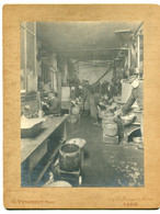 PHOTOGRAPHIE 0273 PARIS Ouvriers Atelier  Machines Photog G Penabert 36 Passage Du Havre  Dim 21,6 Cm X16,5  Cm - Unclassified