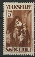 SARRE / SAAR N° 154 COTE 140 € 5Fr + 5Fr Brun-rouge. Neuf Avec Charnière * (MH). TB - Neufs