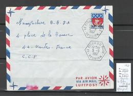 Reunion - Lettre - Piton Sainte Rose - Hexagonal  -1967 - Storia Postale