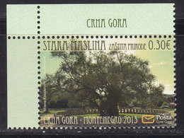 Montenegro 2013 Europa Nature Protection Old Olive Tree Flora Plants MNH A - Montenegro