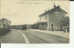 70 - Haute Saone - Esprels - La Gare - Départ D'un Train - Animée - - Otros Municipios