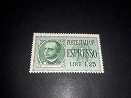 """A8MIX27 REGNO D'ITALIA 1932-33 ESPRESSI TIPO IMPERIALE LIRE 1,25 """"X"""" - Nuevos"""