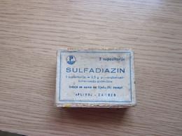 Sulfadiazin Pliva Zagreb Small Cardboard Box - Medizinische Und Zahnmedizinische Geräte