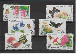 Corée Du Nord 1987 Papillons 1874-1879 6 Val ** MNH - Korea, North
