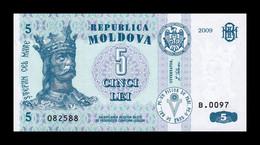 Moldavia Moldova 5 Lei 2009 Pick 9f SC UNC - Moldova