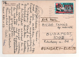 "Beau Timbre , Stamp "" Production De Vaccin "" Sur Cp , Carte , Postcard Du 28/10/1980 - Nigeria (1961-...)"