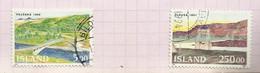 Islande N°721, 722 Cote 5.25 Euros - Gebraucht