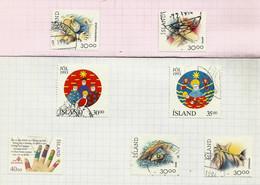 Islande N°733, 734, 748 à 752 Cote 5.75 Euros - Gebraucht
