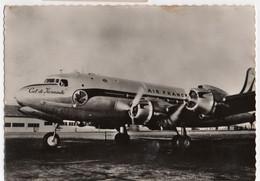 Cpsm- Dans Le Ciel De France- DC4 De La Cie Air France - Other