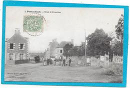 50 PONTAUBAULT - Route D'Avranches - Animée - Andere Gemeenten