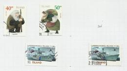 Islande N°904, 905, 908, 908a Cote 4.75 Euros - Gebraucht