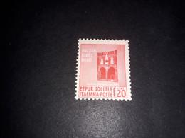 """A8MIX27 REPUBBLICA SOCIALE 1944 MONUMENTI DISTRUTTI NUOVA SERIE ORDINARIA DI PROPAGANDA 20 CENT. """"XX"""" - Unclassified"""