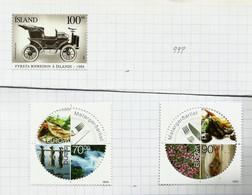 Islande N°998, 1030, 1031 Neufs Avec Charnière* - Ungebraucht