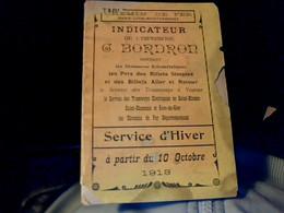 Chemin De Fer Vieux Papier Tramway PLM  Indicateur Bordron Service D'hiver 1913 - Other