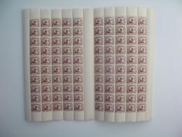 Indochine feuille De 100 Ex. n° 153 neuf **  Gomme Coloniale Plié En Deux  Voir Scan - Unused Stamps