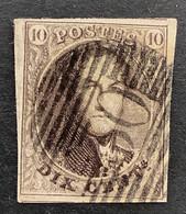 Medaillon 10 - 10c Gestempeld P30 COUVIN - 1858-1862 Medaglioni (9/12)