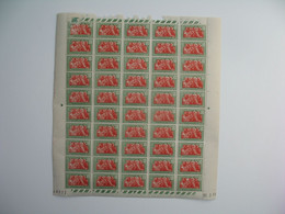 Madagascarfeuille Daté 20/2/39 De 50 Ex. n° 164 neuf **  Gomme Coloniale Plié En Deux  Voir Scan - Neufs