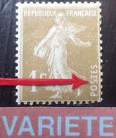 R1491/273 - 1932/1937 - TYPE SEMEUSE CAMEE - N°277Aa NEUF* - VARIETE ➤➤➤ Retouche Du 1er S De POSTES - Varieties: 1931-40 Mint/hinged