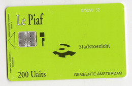 PIAF PAYS BAS 200U AMSTERDAM - Tarjetas De Estacionamiento (PIAF)