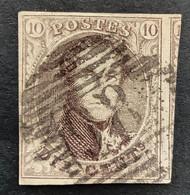 Medaillon 10 - 10c Gestempeld P86 NEUFCHATEAU - 1858-1862 Medaglioni (9/12)