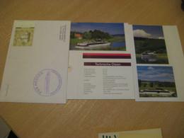 HESSEN FGS Heimathafen Bad Karlshafen Riverboat Ship Cover 1998 Cancel GERMANY + 4 Image - Ships