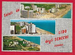 CARTOLINA VG ITALIA - Saluti Da LIDO DEGLI SCACCHI - Vedutine Multivue - 10 X 15 - 1968 - Gruss Aus.../ Grüsse Aus...