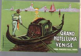 Venise (Italie) étiquette GRAND HOTEL LUNA (PPP28153) - Pubblicitari