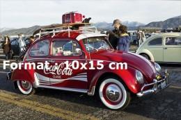 Reproduction D'une Photographie D'une Coccinelle VW Aux Couleurs D'une Marque De Soda Américain - Reproductions