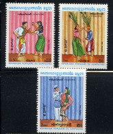 KAMPUCHEA 1983, FOLKLORE, DANSES, 3 Valeurs, Neufs / Mint. R879 - Kampuchea
