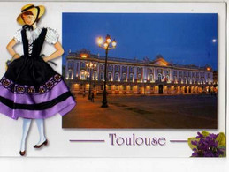 31 TOULOUSE  Folklore, Carte Brodee - Toulouse