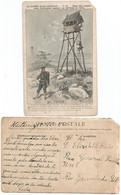 Korea 1900s Postcardtelephone Guard Posts Of The Japanese Staff At The Korean Border Warwar Between Japan And Russia - Korea, North