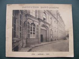 ARRAS RARE Livret De 22 PHOTOS - Institution Saint-Joseph 1934 1935 Les Profs Les élèves Les Scouts Photos De Classes - Arras