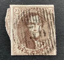 Medaillon 10 - 10c Gestempeld D36 ANTHEE - 1858-1862 Medaillons (9/12)