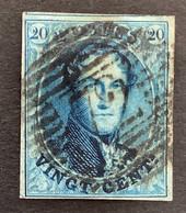 Medaillon 11 - 20c Gestempeld P72 LEUZE - 1858-1862 Medaglioni (9/12)