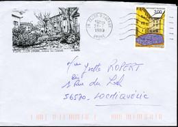 """N° 3256 (1999) - Obl. """"ondulations"""" De Cléon D'Andran (26) Sur Enveloppe Illustrée - 1961-...."""