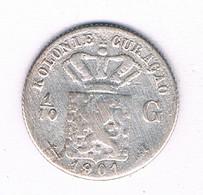 1/10 GULDEN  1901 (mintage 300000 Ex) CURACAO /2968/ - Curacao