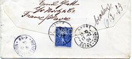 Lettre Le Havre 1904 Perforé N&C 14 - Perfin
