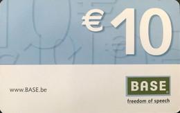 BELGIQUE - Prepaid  -  Base  -  10 E. - GSM-Kaarten, Herlaadbaar & Voorafbetaald