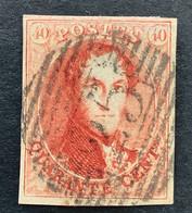 Medaillon 12 - 40c Gestempeld P25 CHARLEROI - 1858-1862 Medaillons (9/12)