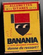"""BOITES D'ALLUMETTES """" BANANIA """" Format : 8 X 5.5 X 3 - Le Lot De 2 - Cajas De Cerillas - Etiquetas"""