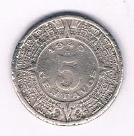 5 CENTAVOS 1940 MEXICO /2978/ - Mexico