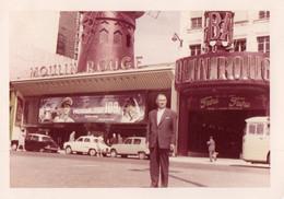 PHOTO ORIGINALE AL 1 - FORMAT 12.8 X 9 - PARIS - MOULIN ROUGE - 1963 - Lieux