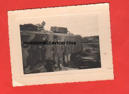 Alpini Della Julia Treno Carro Ferroviario Blindato Foto Anni 40 Russia ? Train Armé Armed Train - Guerre, Militaire