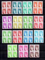 France Sabine YT N° 1965/1979 Complet Tous Variété Sans Phosphore Blocs De 4 ** MNH. Signés Calves. TB. A Saisir! - Varieties: 1970-79 Mint/hinged