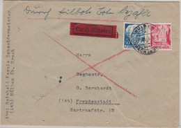 FZ/Württemberg - Hülben ü. Urach PstI Eilbrief N. Freudenstadt 5.11.48 - Franse Zone