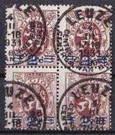 Belgie : Nr  315 In Blok Van 4 / Mooi Gestempeld In LEUZE Op 4 Maart 1931 - Gebraucht