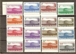 CONGO 1964 - Palais De La Nation - Série Complète MNH - BDF - COB 551/566 - Republic Of Congo (1960-64)