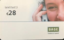 BELGIQUE - Prepaid  -  Base  -  28 E. - GSM-Kaarten, Herlaadbaar & Voorafbetaald