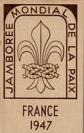SCOUTISME JAMBOREE MONDIAL DE LA PAIX FRANCE 1947 - Scouting